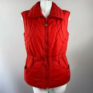 Vtg 80s Snuggler Red Puffer Ski Vest Womens 12